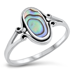 Silver Ring W/ Stone - $4.45