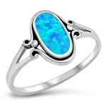 Silver Ring W/ Stone - $5.25