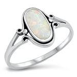 Silver Ring W/ Stone - $5.49