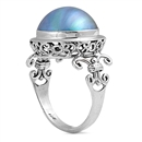 Silver Ring W/ Pearl - $12.48