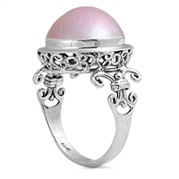 Silver Ring W/ Pearl - $12.84