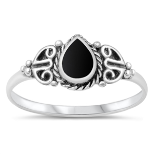 Silver Ring W/ Stone - $4.15