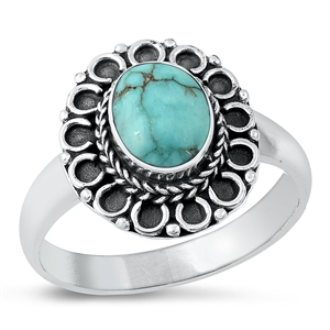 Silver Ring W/ Stone - $8.45