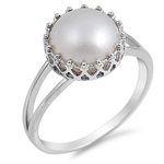 Silver Ring W/ Stone - $5.19