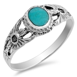 Silver Ring W/ Stone - $4.88
