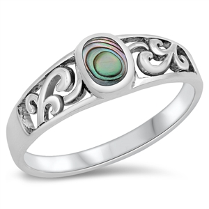 Silver Ring W/ Stone - $4.99