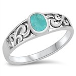 Silver Ring W/ Stone - $4.56