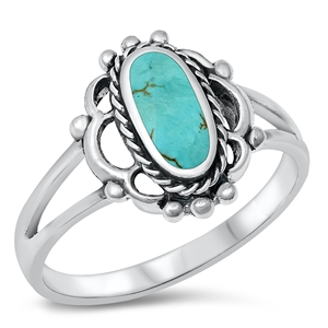 Silver Ring W/ Stone - $6.35