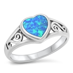 Silver Ring W/ Stone - $5.48
