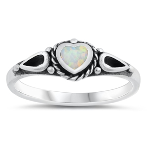 Silver CZ Ring - Heart - $5.45