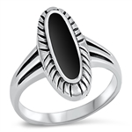 Silver Ring W/ Stone - $7.65