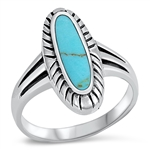 Silver Ring W/ Stone - $8.15