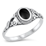 Silver Ring W/ Stone - $3.82