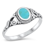 Silver Ring W/ Stone - $3.86