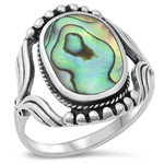 Silver Ring W/ Stone - $13.58