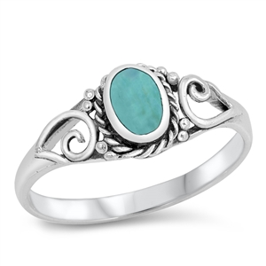 Silver Ring W/ Stone - $4.04
