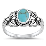 Silver Ring W/ Stone - $5.94
