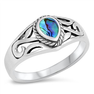 Silver Ring W/ Stone - $5.34