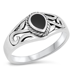 Silver Ring W/ Stone - $5.38