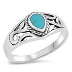 Silver Ring W/ Stone - $5.40