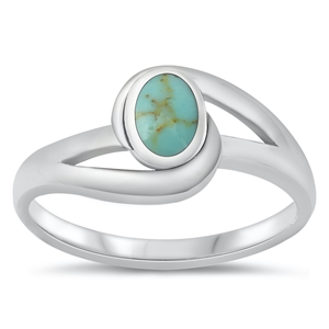Silver Ring W/ Stone - $4.22