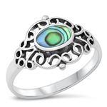 Silver Ring W/ Stone - $5.18