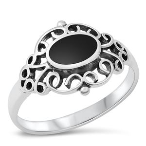Silver Ring W/ Stone - $5.30