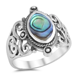 Silver Ring W/ Stone - $8.75