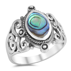 Silver Ring W/ Stone - $8.25