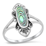 Silver Ring W/ Stone - $5.75
