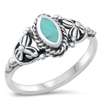 Silver Ring W/ Stone - $4.74