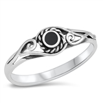Silver Ring W/ Stone - $3.52