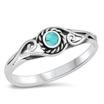 Silver Ring W/ Stone - $3.44