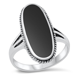 Silver Ring W/ Stone - $9.99