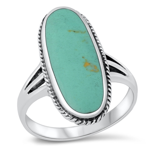 Silver Ring W/ Stone - $9.05