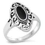 Silver Ring W/ Stone - $7.69