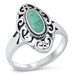 Silver Ring W/ Stone - $8.58