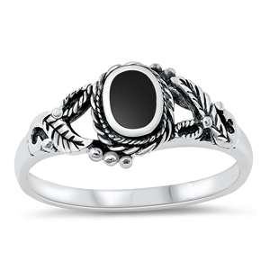 Silver Ring W/ Stone - $5.15