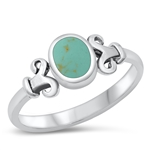 Silver Ring W/ Stone - $4.95