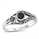 Silver Ring W/ Stone - $4.43