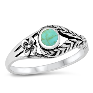 Silver Ring W/ Stone - $4.28