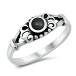 Silver Ring W/ Stone - $3.55