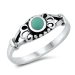 Silver Ring W/ Stone - $3.32