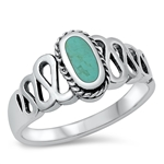 Silver Ring W/ Stone - $6.21