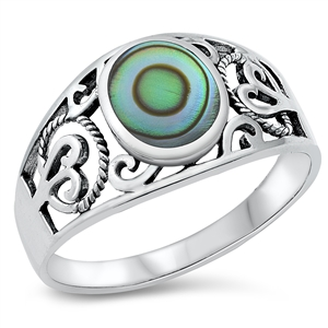 Silver Ring W/ Stone - $6.51