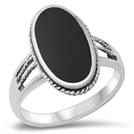 Silver Ring W/ Stone - $9.70