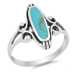 Silver Ring W/ Stone - $6.20