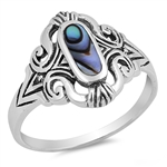 Silver Ring W/ Stone - $5.83