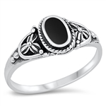 Silver Ring W/ Stone - $5.45