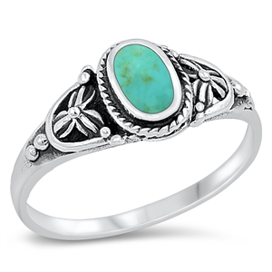 Silver Ring W/ Stone - $5.35